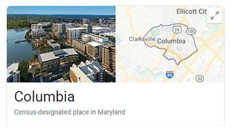 Columbia Maryland