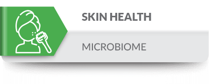 Microbes play an important role in skin health.